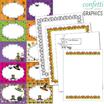 Editable October Signs Decor Great for Halloween Centers Activities Calendar