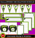 Halloween Classroom Decoration Bundle. Cute printables to brighten up your room!