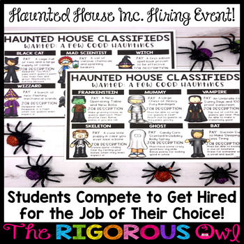 Halloween Classroom Event: Haunted House Incorporated is HIRING!