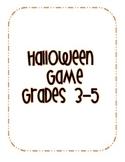 Halloween Classroom Game
