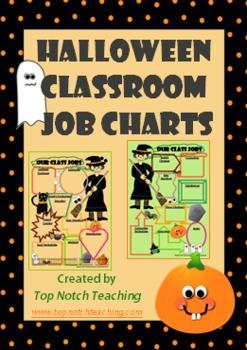 Halloween Classroom Job Charts