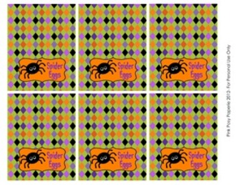 Halloween Classroom Party Spider Eggs Mini Bag Toppers