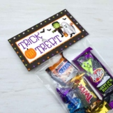 Halloween Classroom Party Trick or Treat Bag Toppers / Party Favor Goody Bags