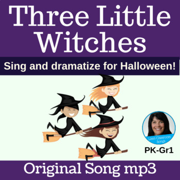 Halloween Classroom Song | Three Little Witches by Lisa Gillam | Song mp3