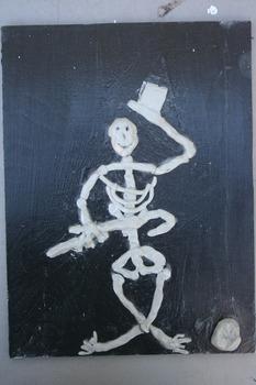Halloween Clay Skeletons