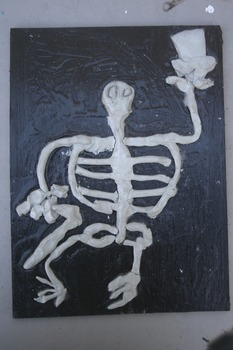 Halloween Clay Skeletons