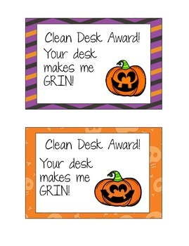 Halloween Clean Desk Awards