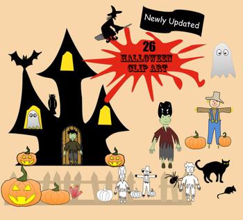 26 Halloween Clip Art Images (Png format, transparent back