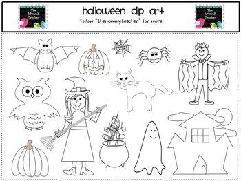 Clip Art - Cute Halloween ClipArt