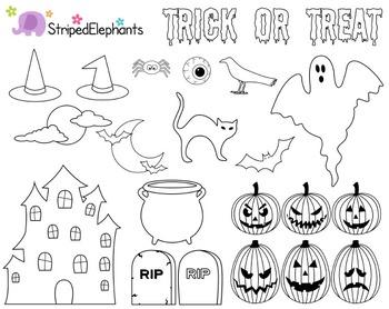 Creepy Halloween Clipart