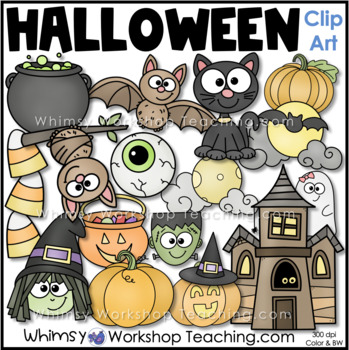 Halloween Clip Art Pack - (50 graphics) Whimsy Workshop Teaching