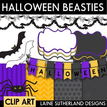 Halloween Clip Art - Beasties