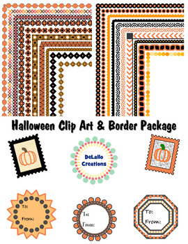 Halloween Clip Art & Border Package