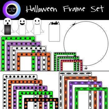 Halloween Clip Art Bundle: 127 Graphics, Personal or Commercial, Frames, Scenes