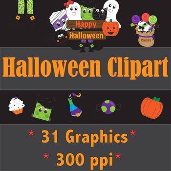 Halloween Clip Art Bundle! * 31 Graphics*
