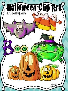 Halloween Clip Art Bundle By Jelly Jams ~Free Thru Halloween!
