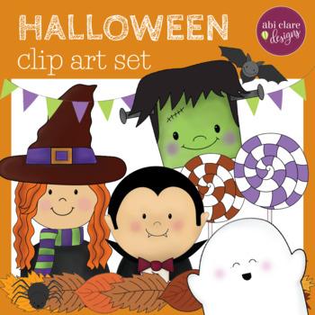 Halloween Clip Art Set