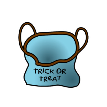 Halloween Clip Art  - Candy And Trick Or Treat Bag