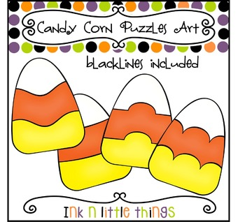 Halloween Clip Art - Candy Corn Puzzle Clipart