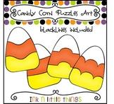 Halloween Clip Art - Candy Corn Puzzle Clipart