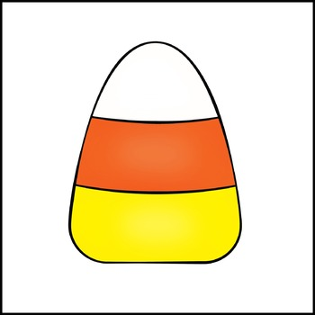 Halloween Clip Art - Colorful Candy Corn Clipart