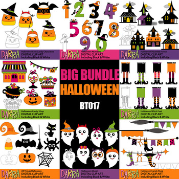 Halloween Clip Art Commercial Use / Big Bundle