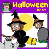 Halloween Clip Art - Cute Kid Witch
