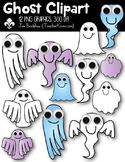 Ghost Clipart ~ Commercial Use OK ~ Halloween ~ $$ DOLLAR DEAL $$