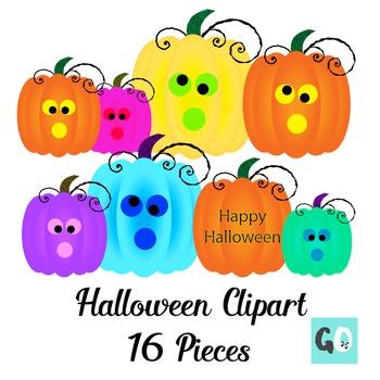 Halloween Clipart,  Pumpkins, Bats, Spiders, Ghost, Witch's Hat Clip Art