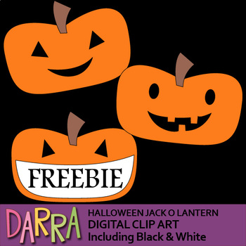 Halloween Clip Art Free - Jack O Lantern clipart for Halloween activities