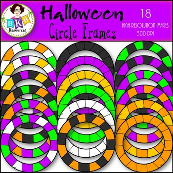 Halloween Clipart ● Circle Frames ● Graphics ● Products fo