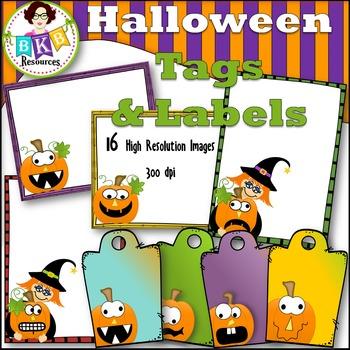 Halloween Clip Art - Halloween Tags & Labels