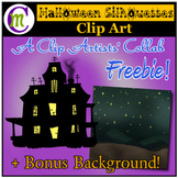 Haunted House Clipart   Sept 2017 Clip Artists Collab FREEBIE