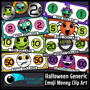 Halloween Emoji Money Clip Art