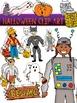 Halloween Clip Art {Ninja Turtle Witch Trick or Treaters Pumpkin