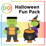 Halloween Clip Art Pack — Color and Line Drawings + 1 Back