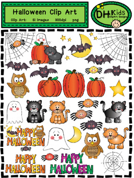 Halloween Clip Art - Personal and Commercial Use