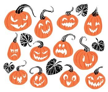 Halloween Clip Art, Pumpkin Clip Art, Hello Pumpkin, Halloween pumpkin clipart
