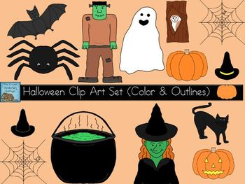 Halloween Clip Art Set {Personal & Commercial Use}