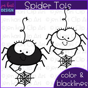 Halloween Clip Art - Spider Tots {jen hart Clip Art}