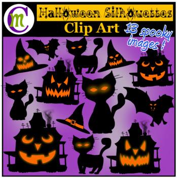 Halloween Clip Art | Spooky Silhouettes CM
