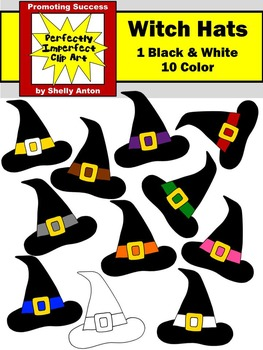 Halloween Witch Hats Clipart