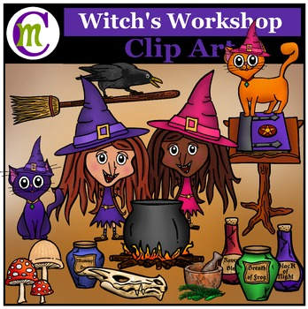 Halloween Clip Art ♦ Witch's Workshop