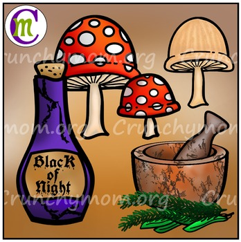 Halloween Clip Art Witch's Workshop