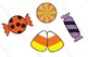 October Halloween Clip Art Witches Bats Candy Transparent Background 23 Elements
