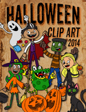 Halloween Clip Art and Coloring Set