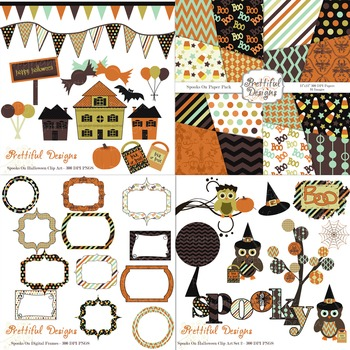 Halloween Clip Art and Paper Kit