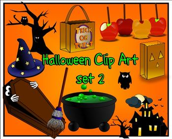 Halloween Clip Art for personal and commercial use set 2