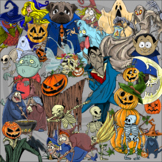 Halloween Clip Art from creepy to cute for any use persona