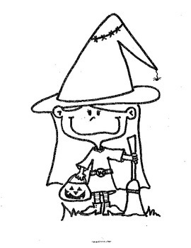 Halloween Clip Art or Coloring Pages